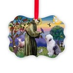 ST. FRANCIS + OES Picture Ornament