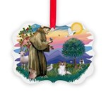 St.Francis #2 / Papillon (sw Picture Ornament