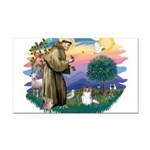St.Francis #2 / Papillon (sw Rectangle Car Magnet
