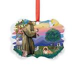 St.Francis #2 / Pekingese #1 Picture Ornament
