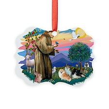 St.Francis #2/ Pomeranian(3) Ornament