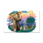 St.Fran #2/ Poodle (Std S) Rectangle Car Magnet