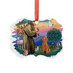 St.Fran #2/ Poodle (Std-ap) Picture Ornament