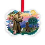 St.Francis #2 / Poodle (ST-Ch Picture Ornament