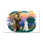 St.Francis #2/ Poodle (Std W) Rectangle Car Magnet