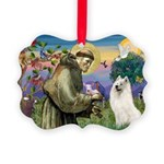 St Francis & Samoyed Picture Ornament