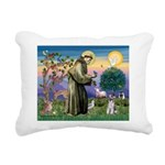 St.Francis / Mini. Schnauzer Rectangular Canvas Pi