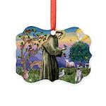 St.Francis / Mini. Schnauzer Picture Ornament