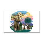 St.Francis #2/ 2 Shelties Rectangle Car Magnet