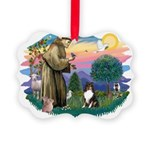 St.Francis #2/ Sheltie (tri) Picture Ornament