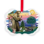 St.Francis #2/ Tibetan Spani Picture Ornament