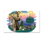 St.Francis #2/ Tibetan Spani Rectangle Car Magnet