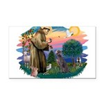 St.Francis #2/ Weimaraner #1 Rectangle Car Magnet