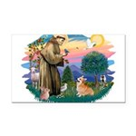 St.Francis #2/ Welsh Corgi Rectangle Car Magnet