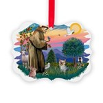 St Francis #2/ Yorkie #13 Picture Ornament