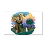 St. Fran (ff) - Black/white c Rectangle Car Magnet