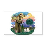 St Fran(f) - 2 Ragdolls Rectangle Car Magnet