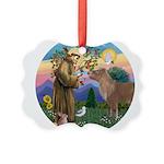 R-St Francis-ShetlandPONY.png Picture Ornament