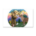 R-St Francis-ShetlandPONY.png Rectangle Car Magnet
