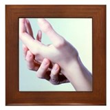 Woman's hands - Framed Tile