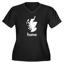 Home Women's Plus Size V-Neck Dark T-Shirt