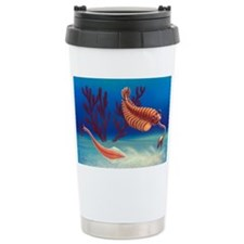 Cambrian animals, artwork - Ceramic Travel Mug