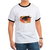 Crow Perching on Crowbar Retro T