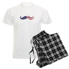 US Flag Mustache Pajamas