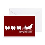 "L. Chihuahua ""Sleigh"" Greeting Cards (Pk of 10"