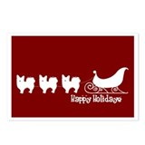 "L. Chihuahua ""Sleigh"" Postcards (Package of 8)"