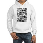 Eat Sleep Snuggle Hooded Sweatshirt