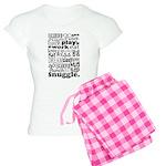 Eat Sleep Snuggle Women's Light Pajamas