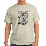 Eat Sleep Snuggle Light T-Shirt