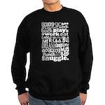 Eat Sleep Snuggle Sweatshirt (dark)
