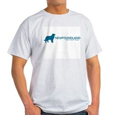 "Newfoundland ""One Cool Dog"" Ash Grey T-Shirt"