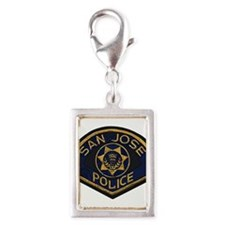 San Jose Police patch Silver Portrait Charm