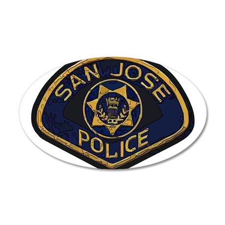 San Jose Police patch 20x12 Oval Wall Decal