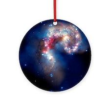 Antennae galaxies, composite image - Round Ornamen