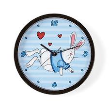 Blue Bunny Wall Clock
