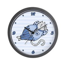 Pajama Kitty Wall Clock