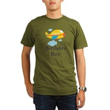 Yellow Airplane Birthday Boy T-Shirt