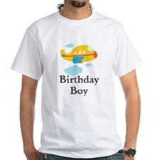 Yellow Airplane Birthday Boy Shirt