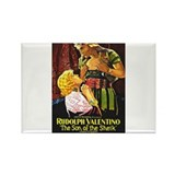 rudolph valentino Rectangle Magnet (100 pack)