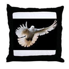 Whie Dove Throw Pillow