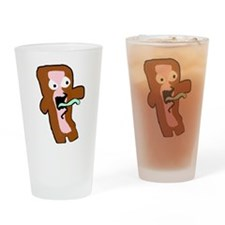 Bacon Zombie Drinking Glass