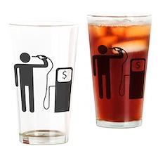 Petrol Gun To The Head Drinking Glass