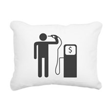 Petrol Gun To The Head Rectangular Canvas Pillow