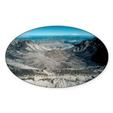 Mount St Helens volcanic crater - Decal