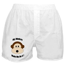 My Monkey Made Me Do It! Boxer Shorts