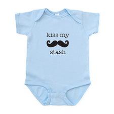 kiss my stash moustache Onesie
